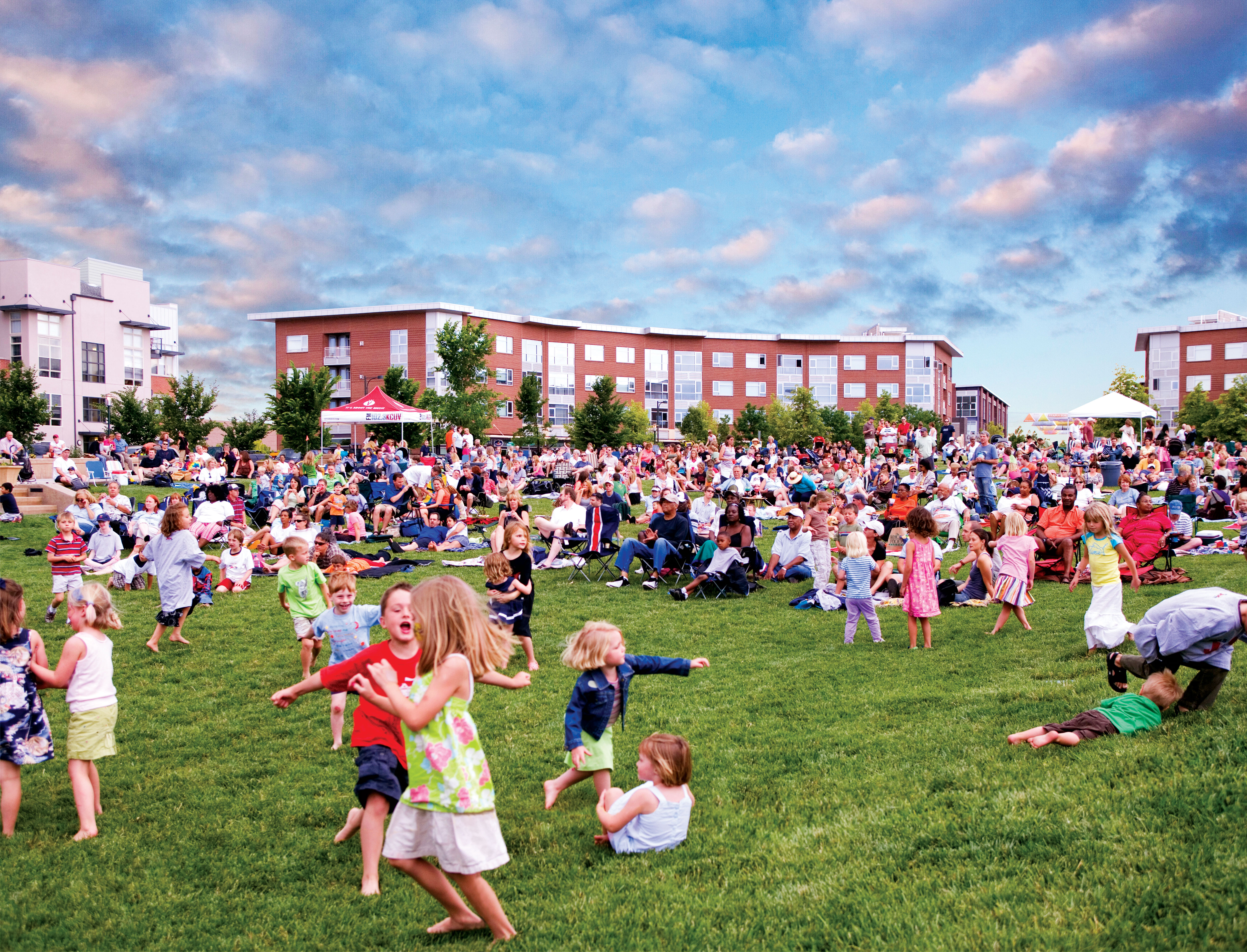 Movie on the Green Kids Playing 1